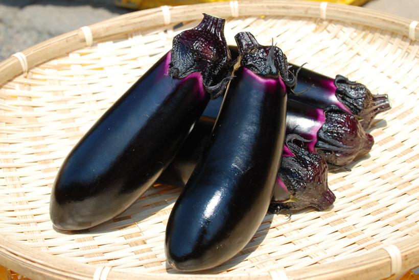 *ナス 1袋150円(税込) 旬………8月下旬〜9月中旬 栄養……カリウム 食べ方…油で炒める