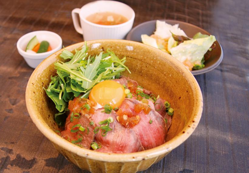 麦ローストビーフ丼