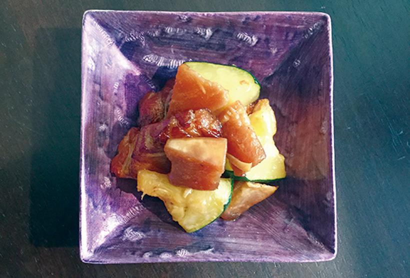 大根山椒醤油豚バラ