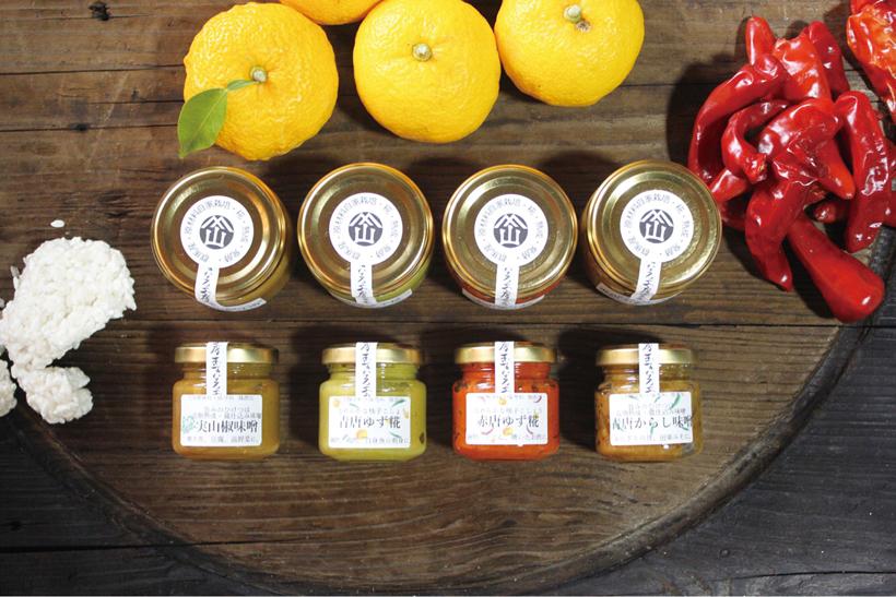 *柚子胡椒をはじめ、約10種類ある「和調味料」