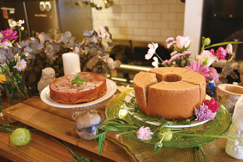 *パティシエでもあった御幸さんが作るケーキ 甘さを控えた優しい味わいが特徴