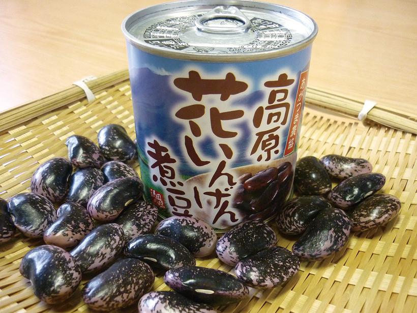 高原花いんげん煮豆缶