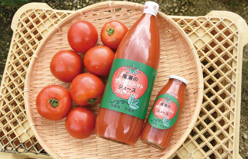 *ぜいたくトマトジュース  180ml 330円、1ℓ1,300円 青臭さがなく、トマトが苦手な方でも飲めると評判