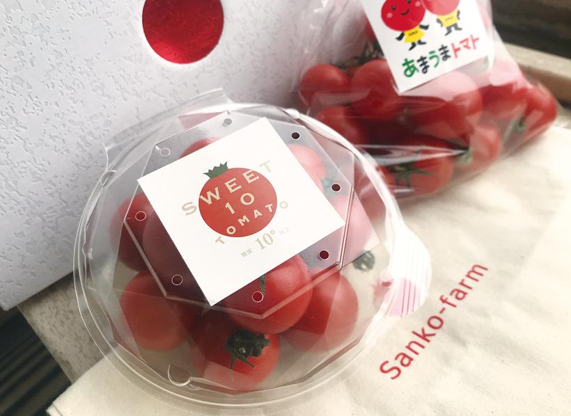 *SWEET10トマト 栄養…カリウム、リコピン、ビタミンA、ビタミンC、ビタミンE、ルチン、ビタミンB6、食物繊維 販売時期…1月〜5月末 食べ方…そのまま