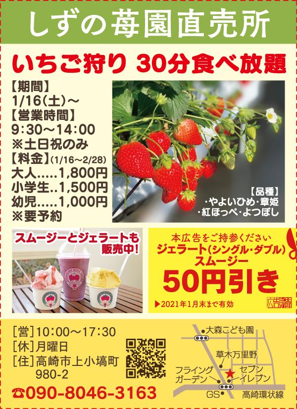 210110しずの苺園1